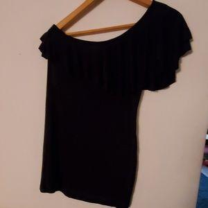 Arden B Black One Shoulder Blouse - M